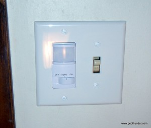New Motion Sensor Switch Installed