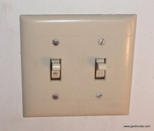 Old Double Wall Switch