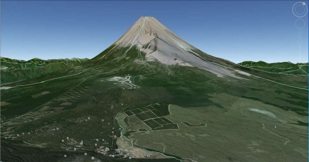 Google Earth Capture Mount Fuji